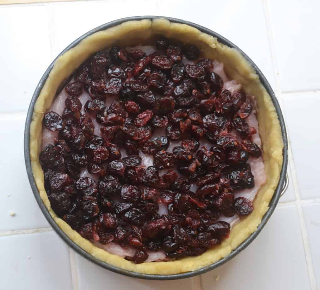 cranberries added to tin.