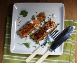 Chilli and Ginger Glazed Salmon