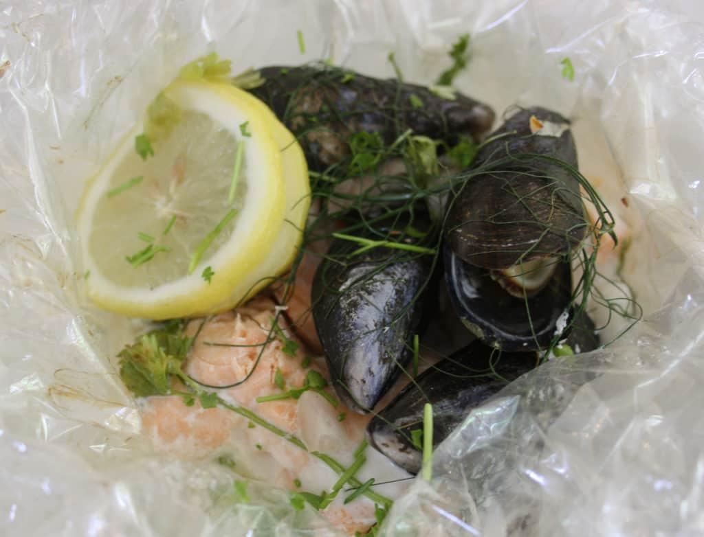 Baked Seafood Parcels