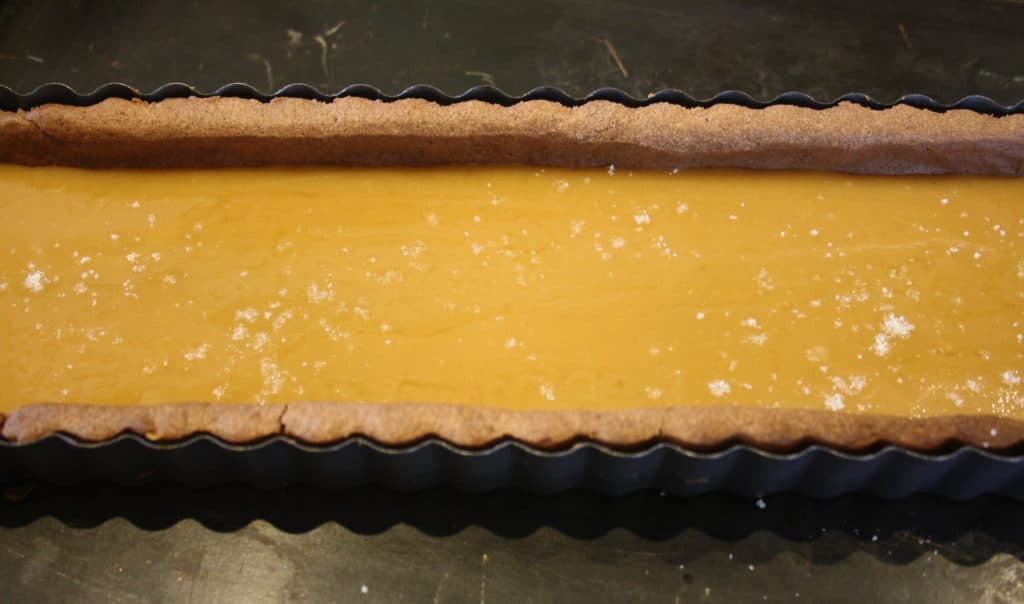 the caramel layer