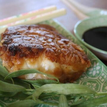 Crispy Miso Cod. Fish and chips get a makeover with a marinade of miso, mirin, sherry, soy and rice vinegar before being dipped in flour and fried.