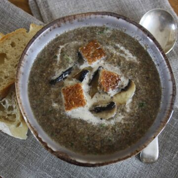 Tarragon and Mushroom Soup. This is a simple soup, ready in 15 minutes with only a handful of ingredients but is packed full of taste.