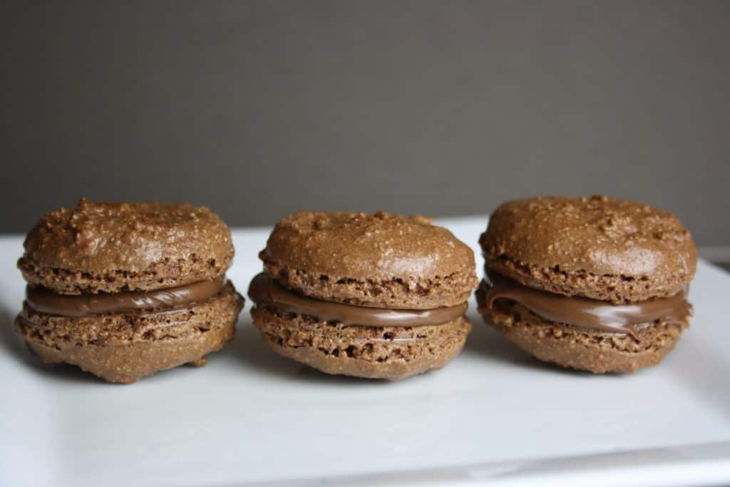 3 meringue chocolate biscuits
