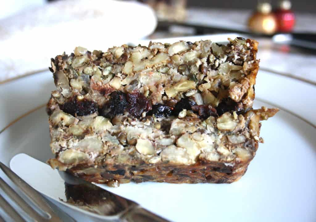 slice of nut roast
