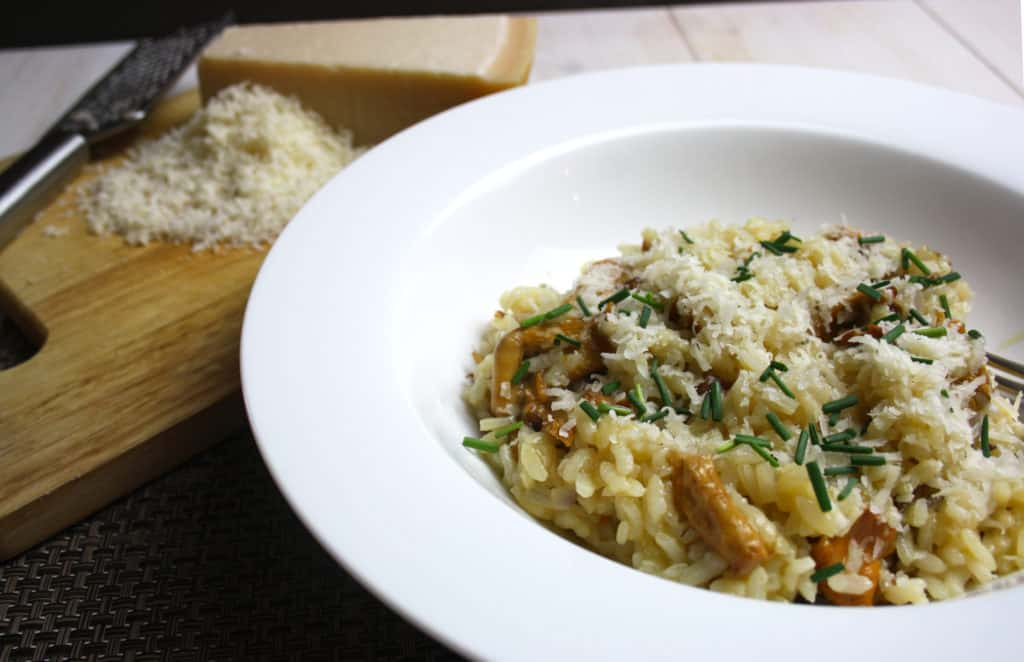 Wild Mushroom Risotto in a serving bowl.