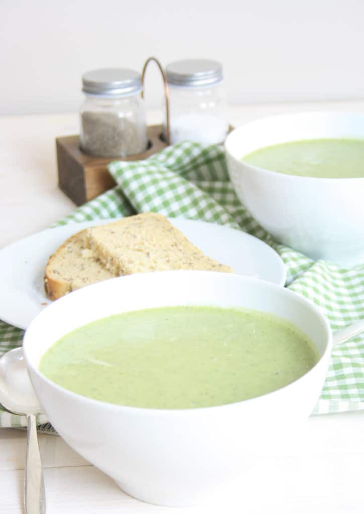 bowl of broccoli and stilton soup