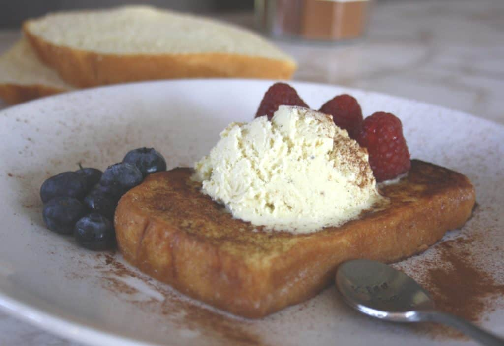 Simple Simple Vanilla Pain Perdu. Buttery brioche is dipped in batter then fried for an easy and delicious dessert. So many variations.