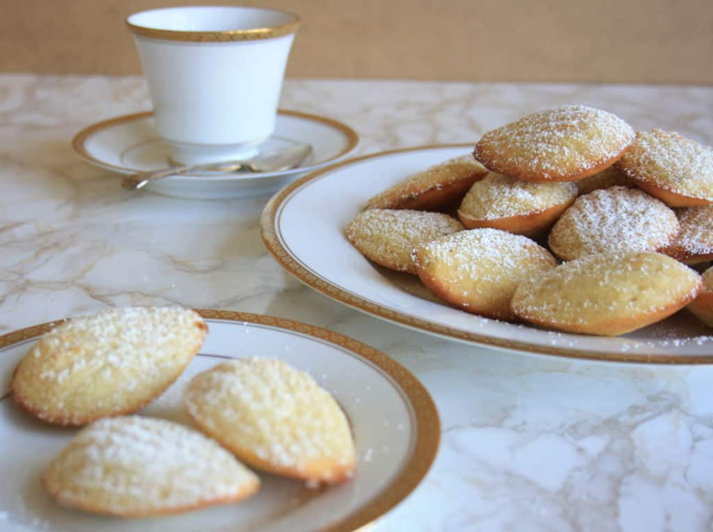 Plates of madeleines