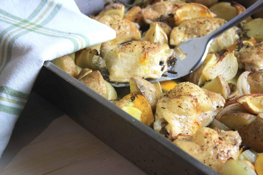 tray of chicken