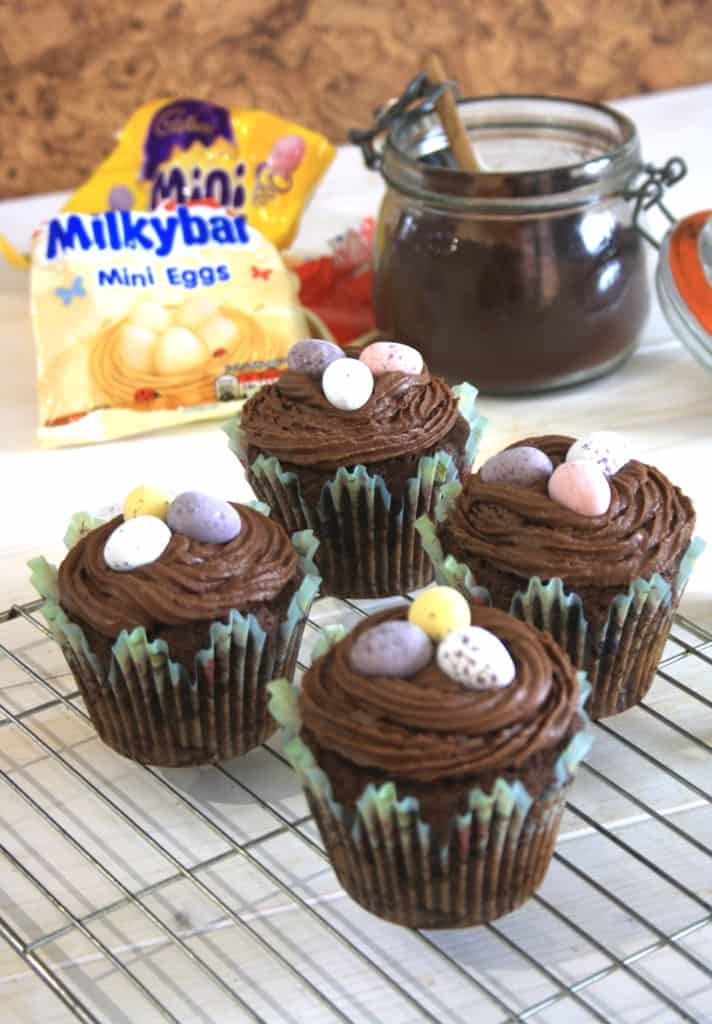 four surprise easter egg cakes