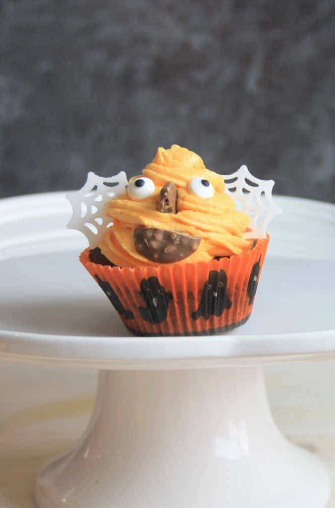 close up of halloween cupcake