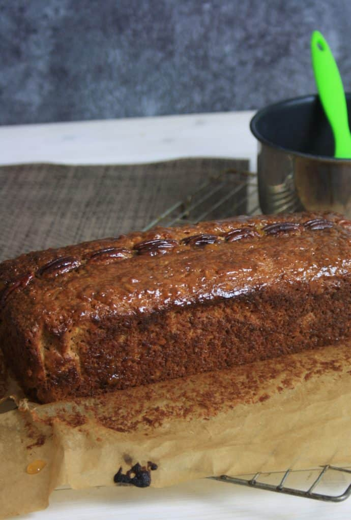 Banana bread glazed