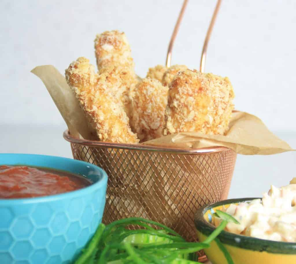 halloumi fries in a basket