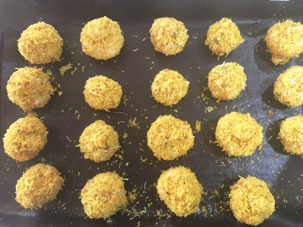 mushrooms dipped in panko
