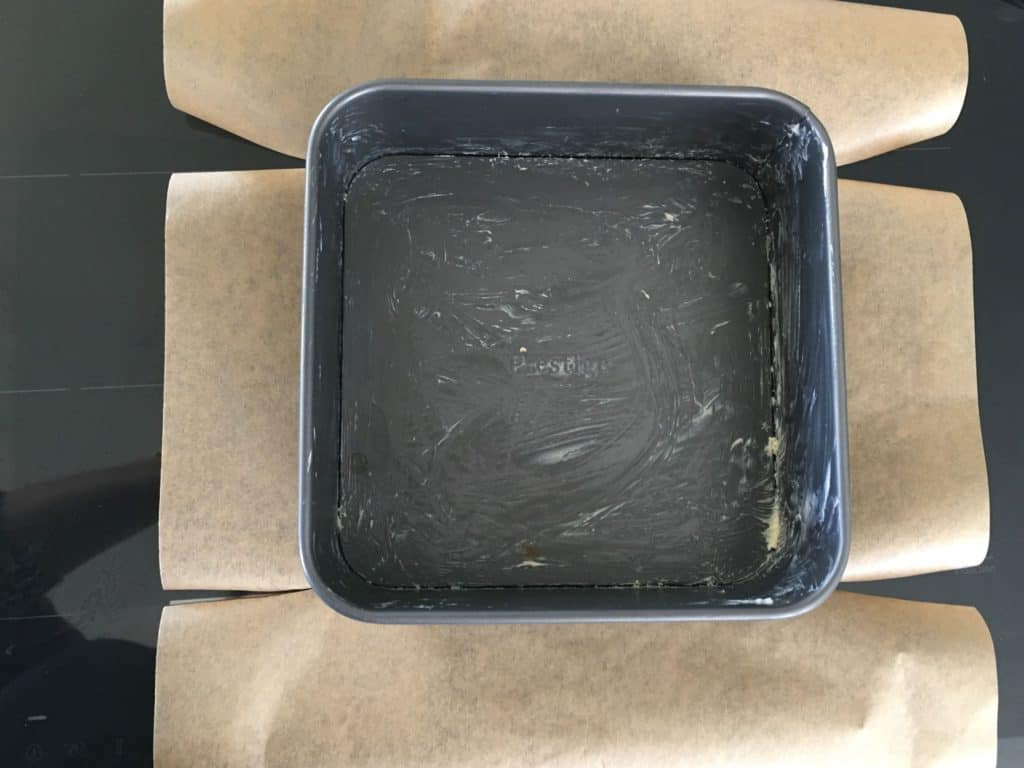 tin and parchment paper