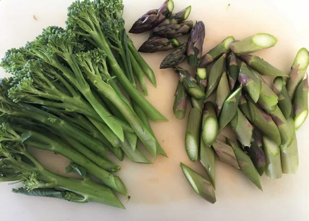 prepared green vegetables