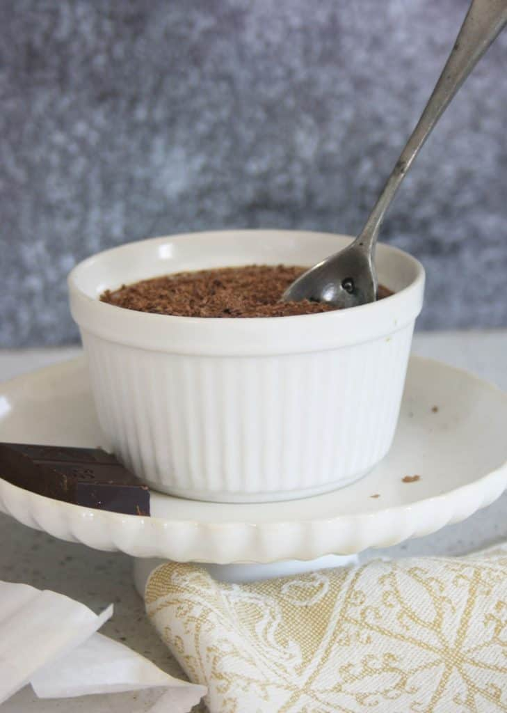 spoon in a pot of mousse
