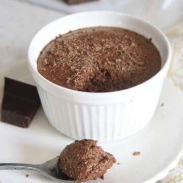 chocolate mousse with a spoonfulne