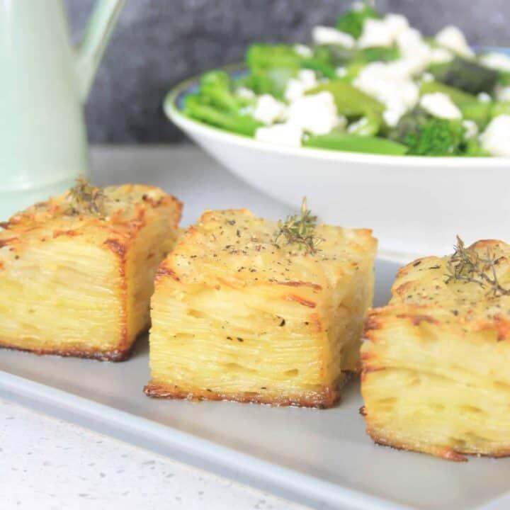 slices of pave potato