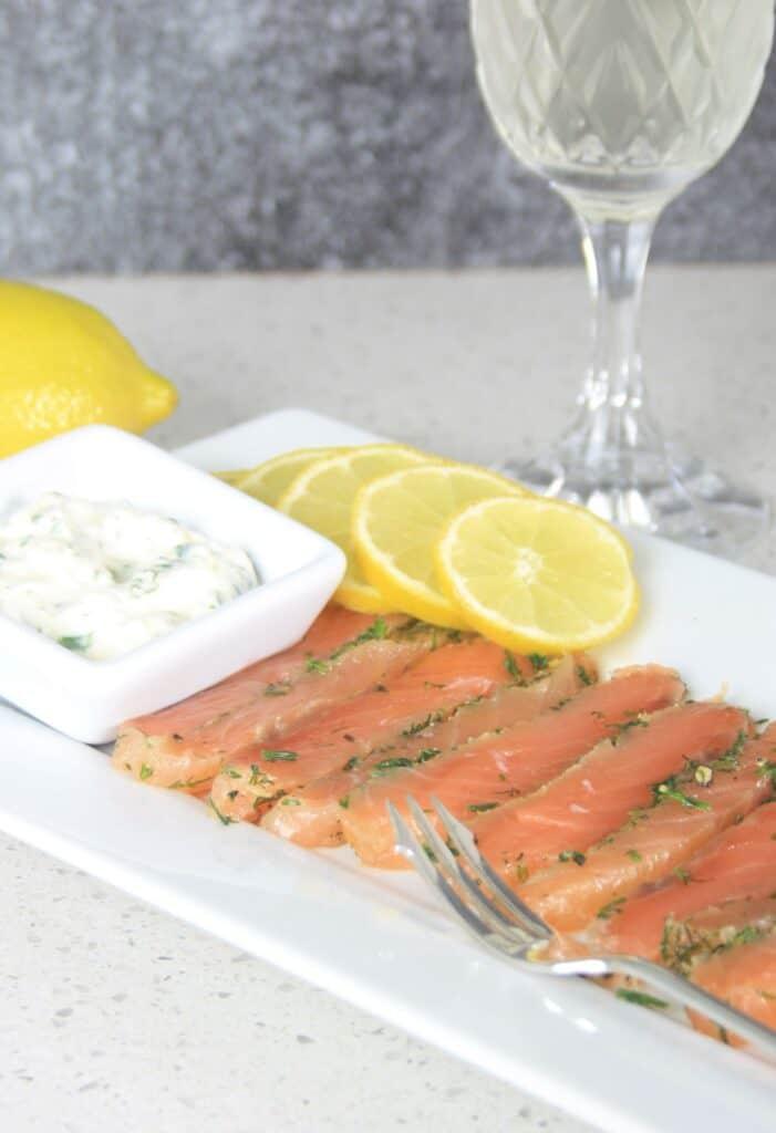 slices of salmon