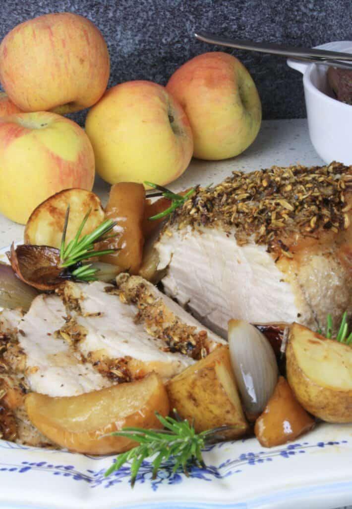 sliced tuscan roast pork