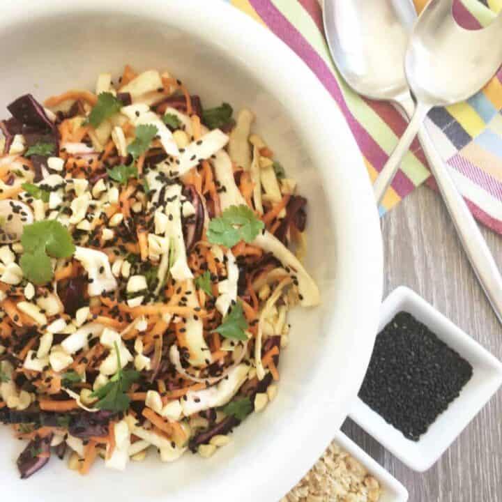 bowl of coleslaw
