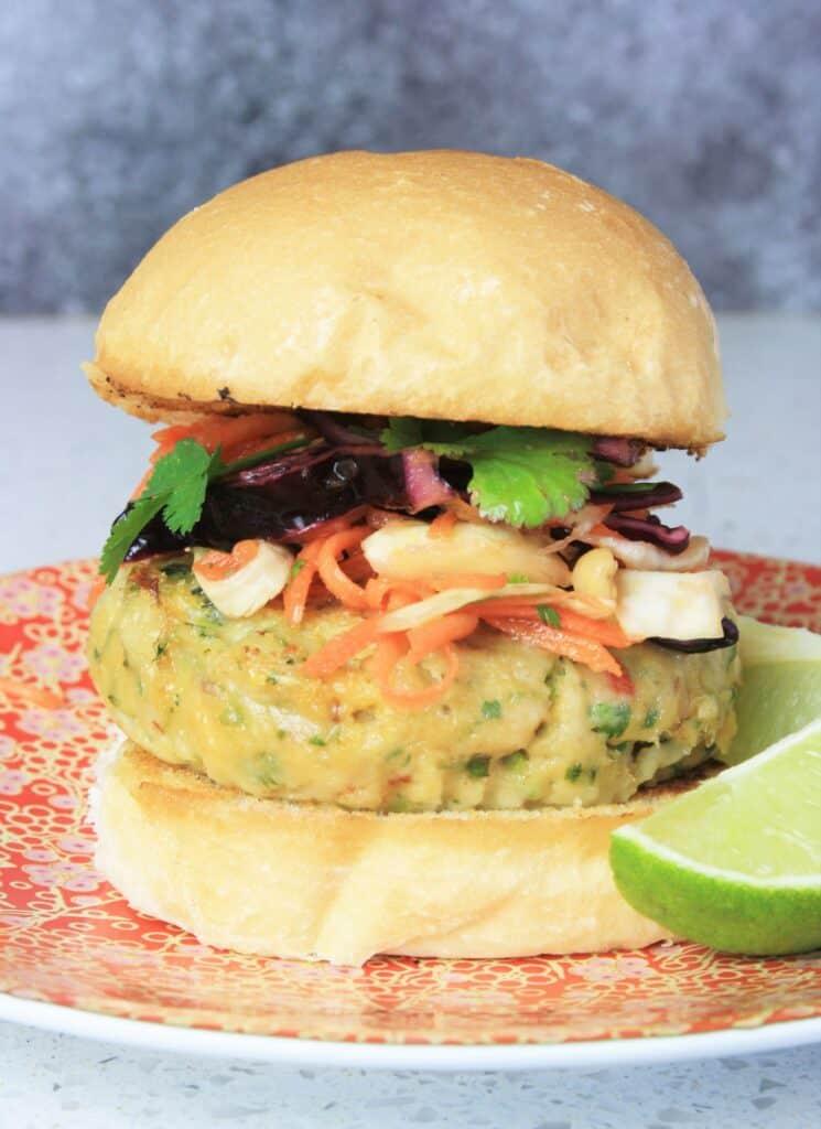 coleslaw on fish burger
