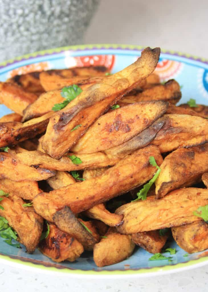 plate sweet potato fries