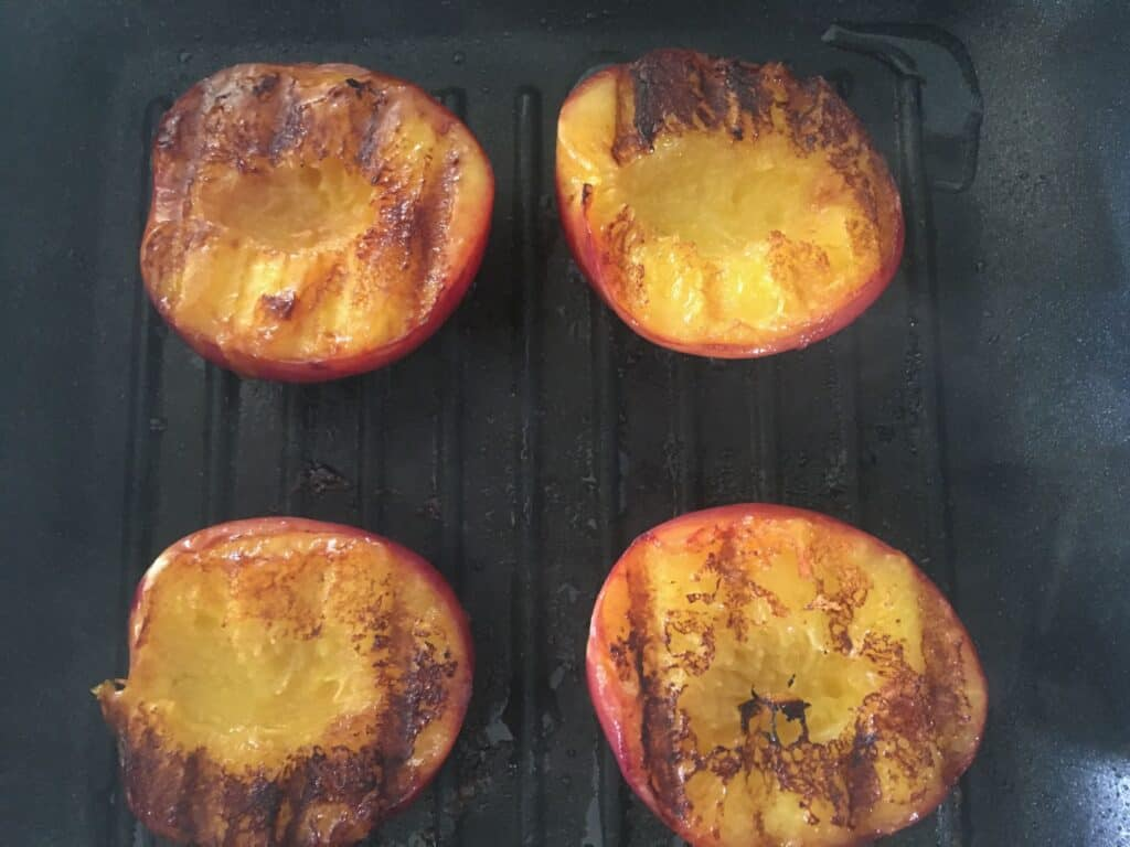 nectarines on the grill