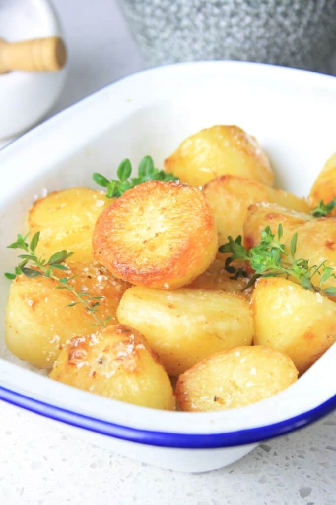 bowl of the roast potatoes recipe