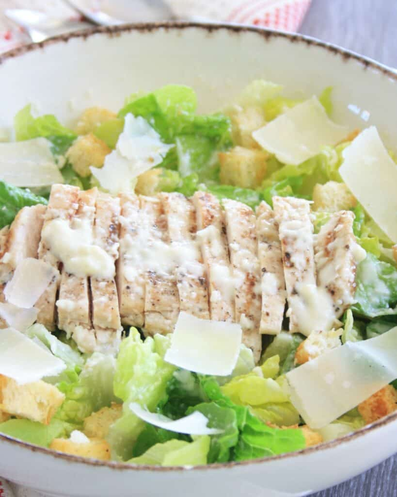 sliced chicken in a bowl
