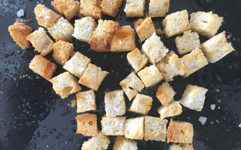 cooked croutons