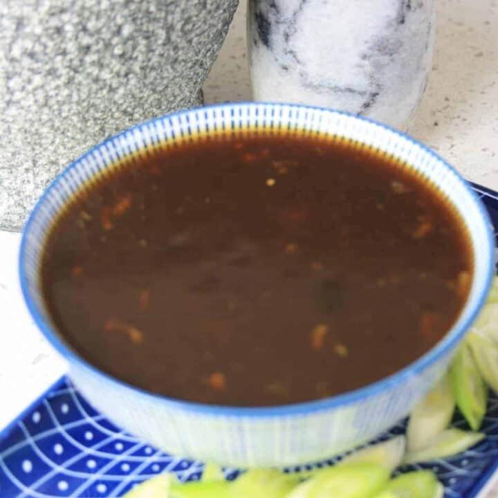 bowl of asian sauce