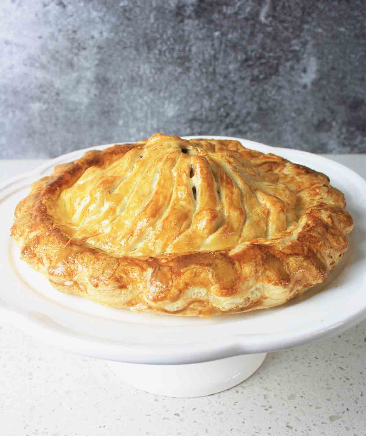 close up of whole pithivier.