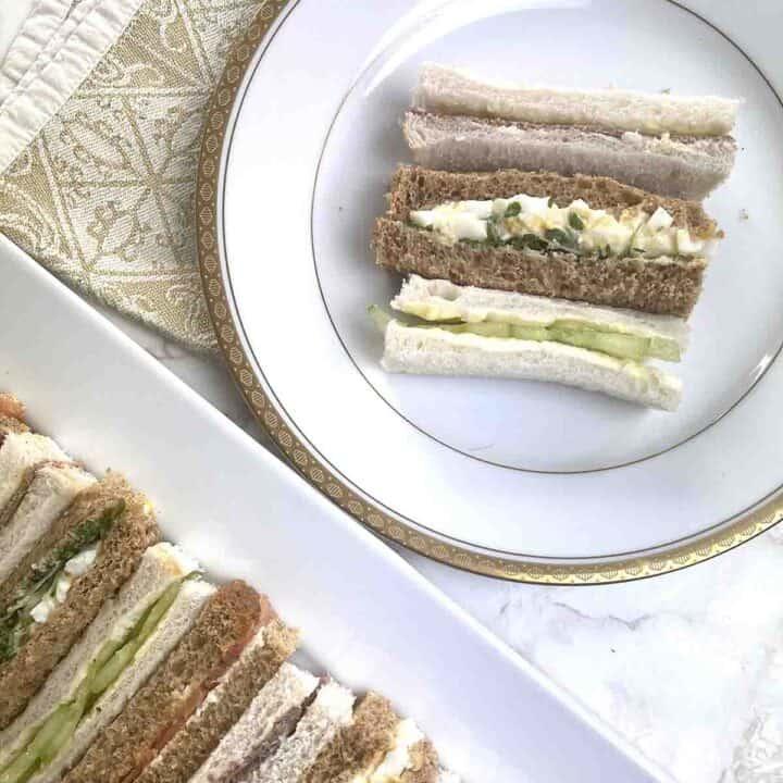 afternoon tea sandwiches.